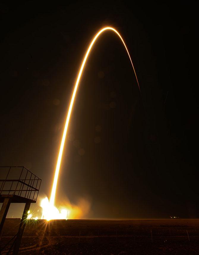 Как стартовал космический корабль «Союз ТМА-12М»