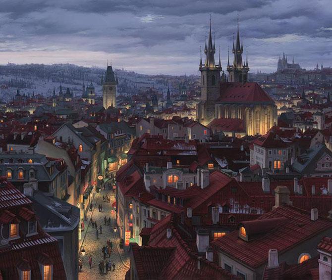 Городские пейзажи Евгения Лушпина