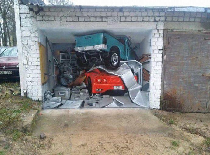 Рисунки на гаражных воротах