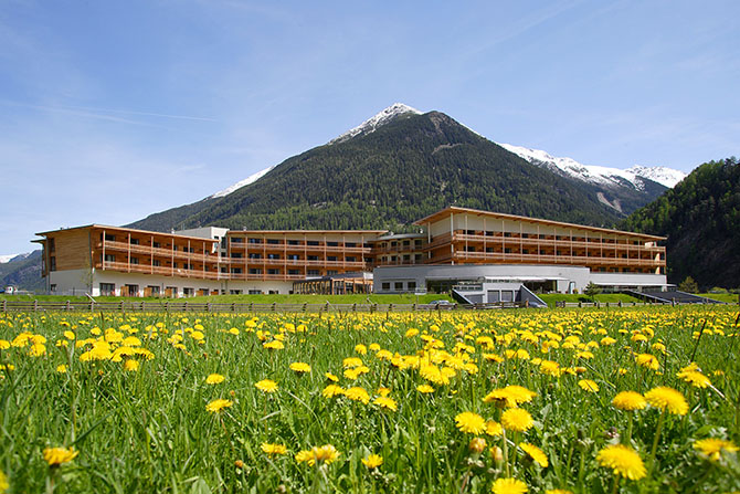 Термальный курорт Aqua Dome в горах Австрии