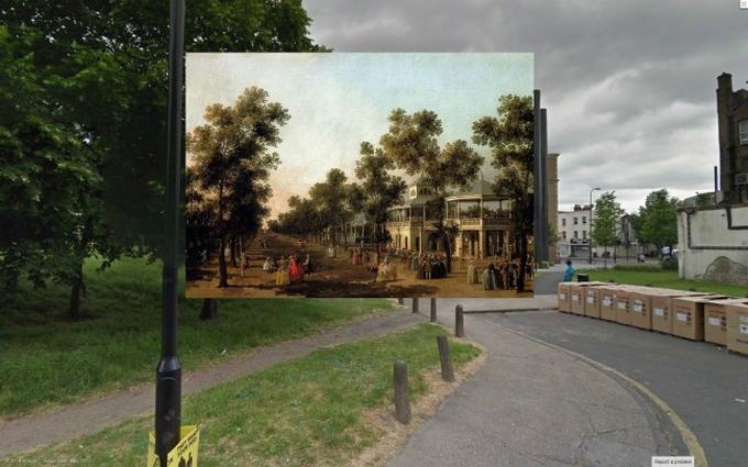 Картины в Google Street View