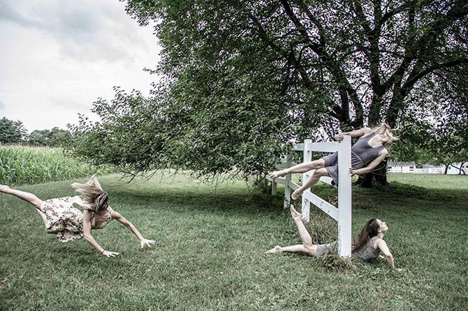 Акробатические танцоры бросают вызов гравитации