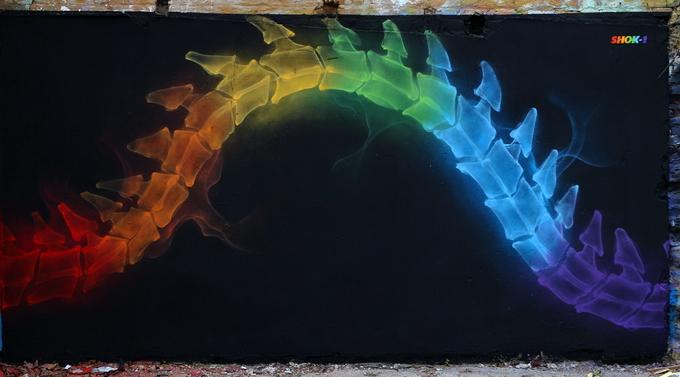 Уличный художник Shok-1