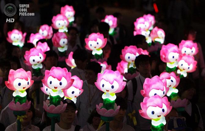 Грандиозный фестиваль фонарей в Сеуле