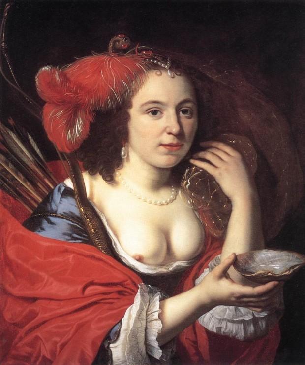 В эпоху Возрождения женщины в Европе носили платья с открытой грудью