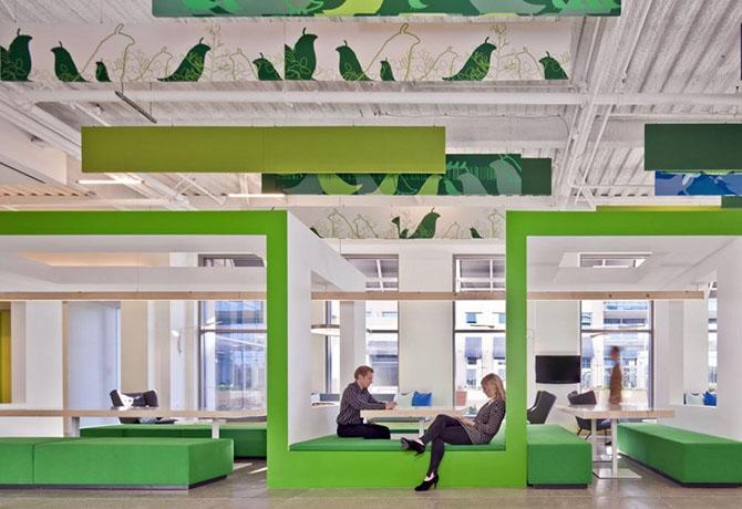 Офисы крупных компаний, в которых хочется остаться жить
