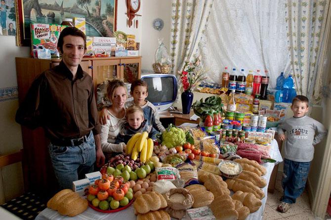 Недельный рацион обычной семьи