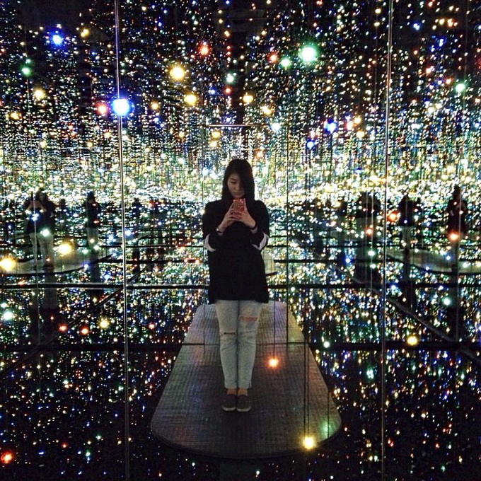 Инсталляция Yayoi Kusama (8 фото)