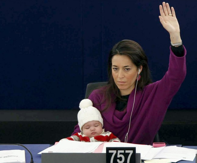 Дочь члена Европарламента в Страсбургском парламенте