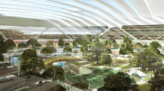 Проект аэропорта на Темзе (5 фото)