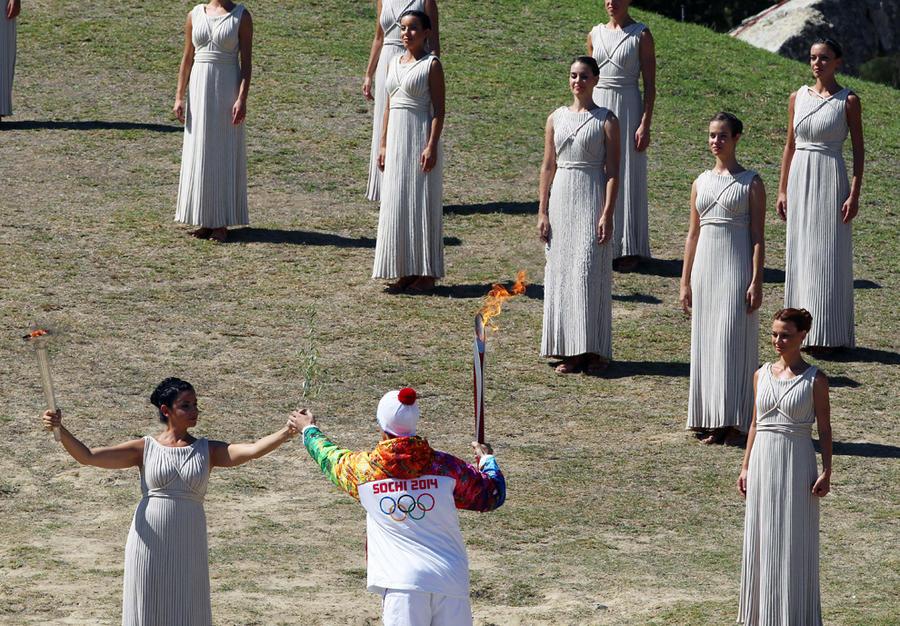 Зимние Олимпийские игры 2014: Эстафета олимпийского огня (31 фото)