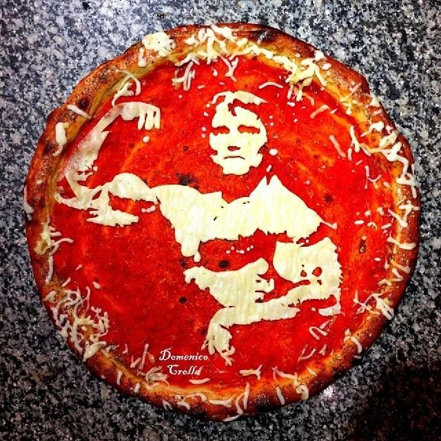 Пицца с портретами знаменитостей