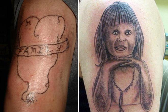 Самые ужасные татуировки