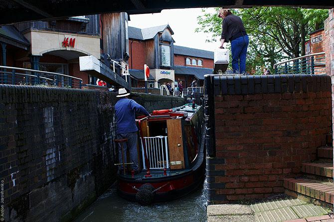 Ручной шлюз торгового канала Британии