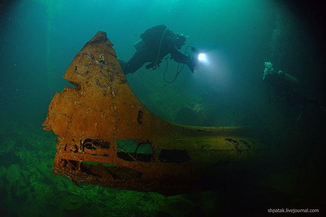 Подводное кладбище кораблей в Тихом океане