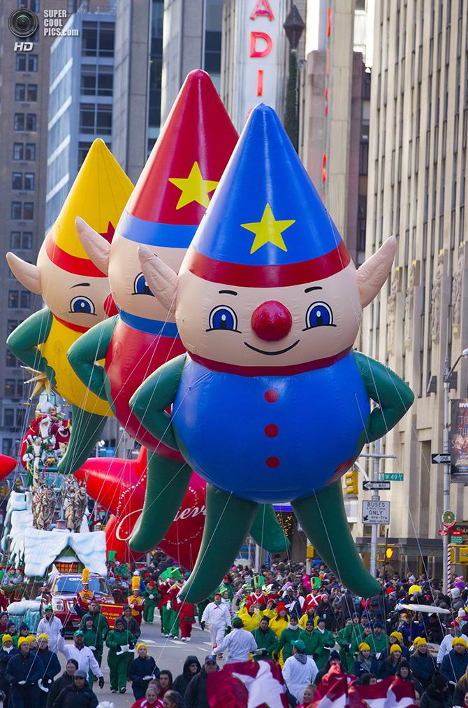 Как прошел парад в честь Дня благодарения в Нью-Йорке