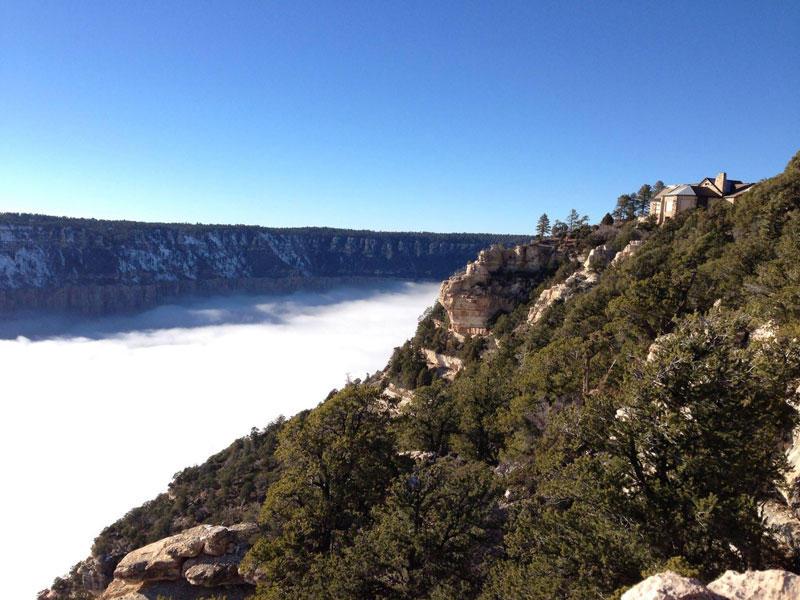Каждые 10 лет туман заполняет Гранд-Каньон