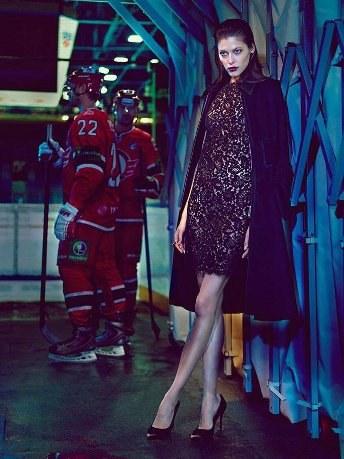 Хоккей и женщина в Schon Magazine