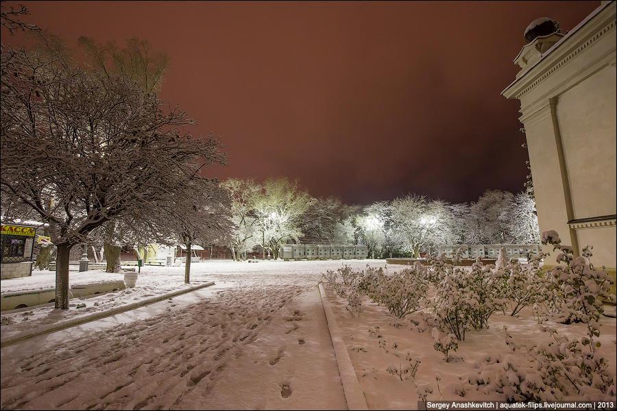 Ночное одеяло из снега