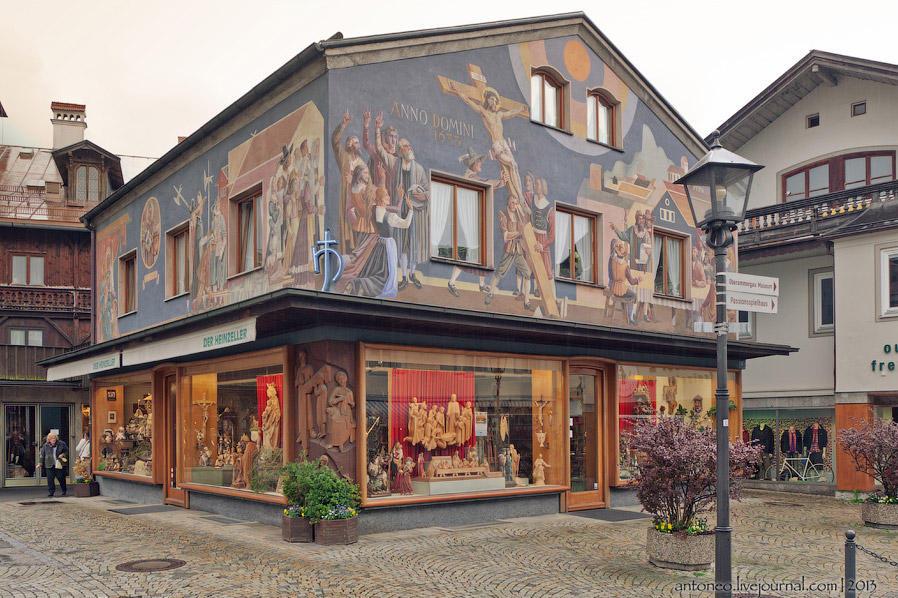 Сказочная деревушка в баварских Альпах