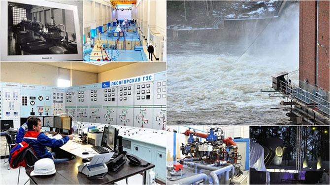 Запуск гидроагрегата на Лесогорской ГЭС