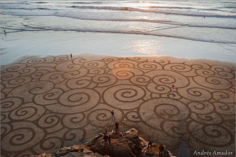 Узоры на песчаном пляже