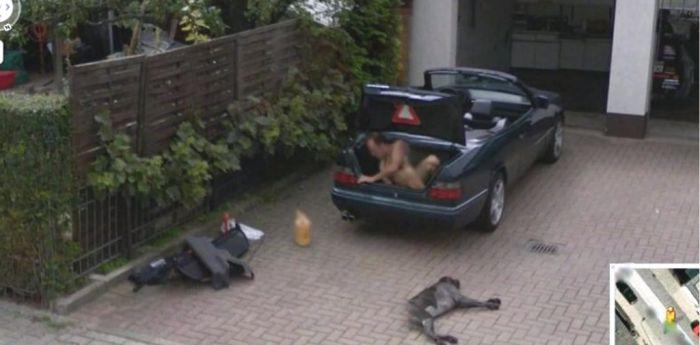 Необъяснимые снимки на Google Street View (36 фото)