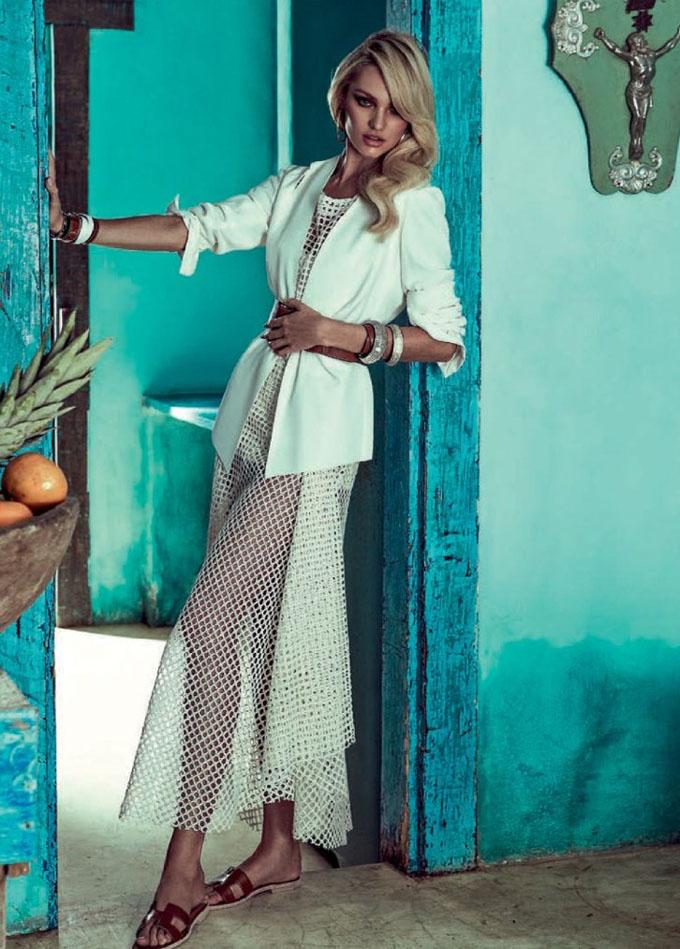 Кэндис Свэйнпоул в Vogue Brazil