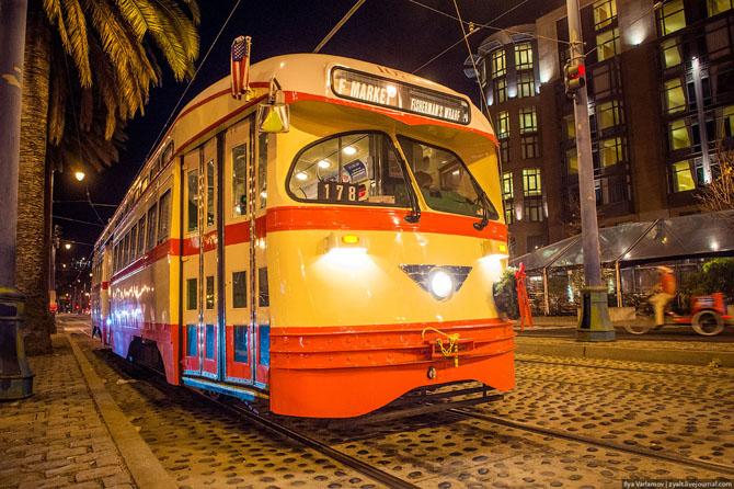 Исторический трамвай в Сан-Франциско