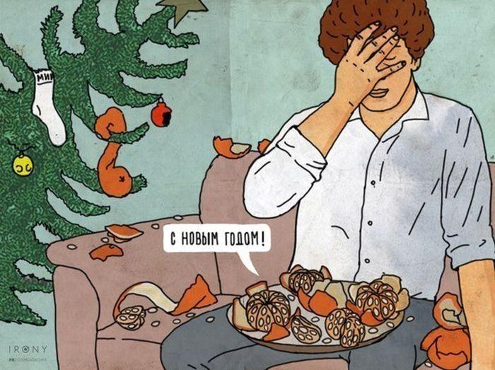 Планы на Новый год и суровая реальность (8 картинок)