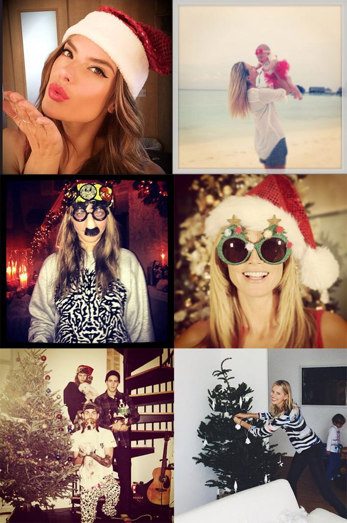 Рождество моделей в Instagram