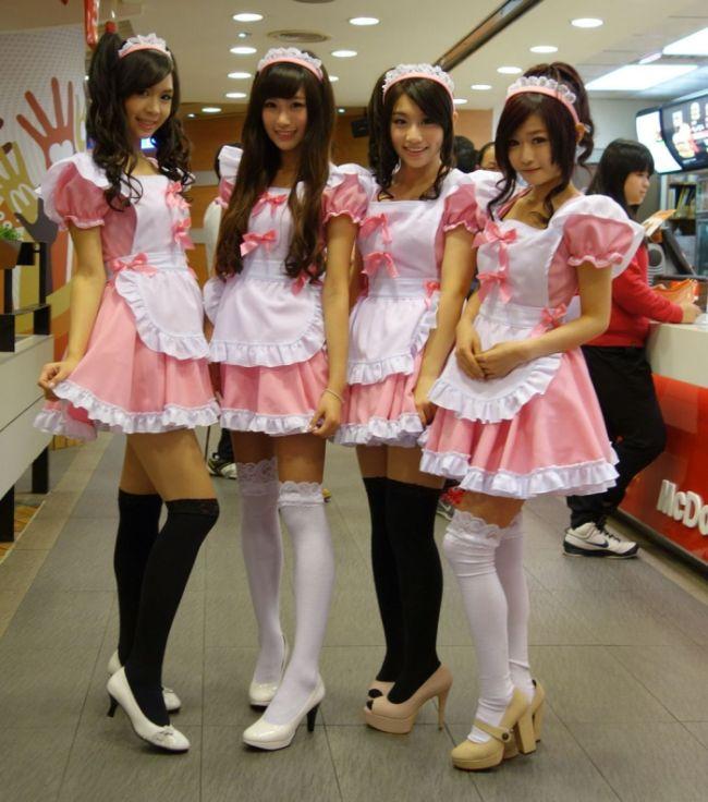 Работницы Макдональдса  в Тайване