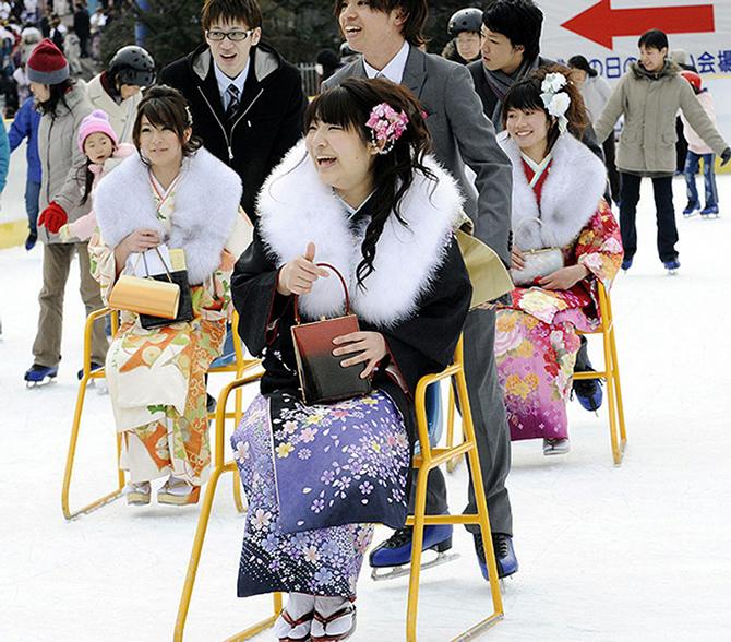 Как празднуют День совершеннолетия в Японии