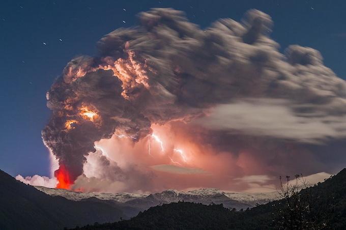 Вулкан Cordón Caulle в Чили