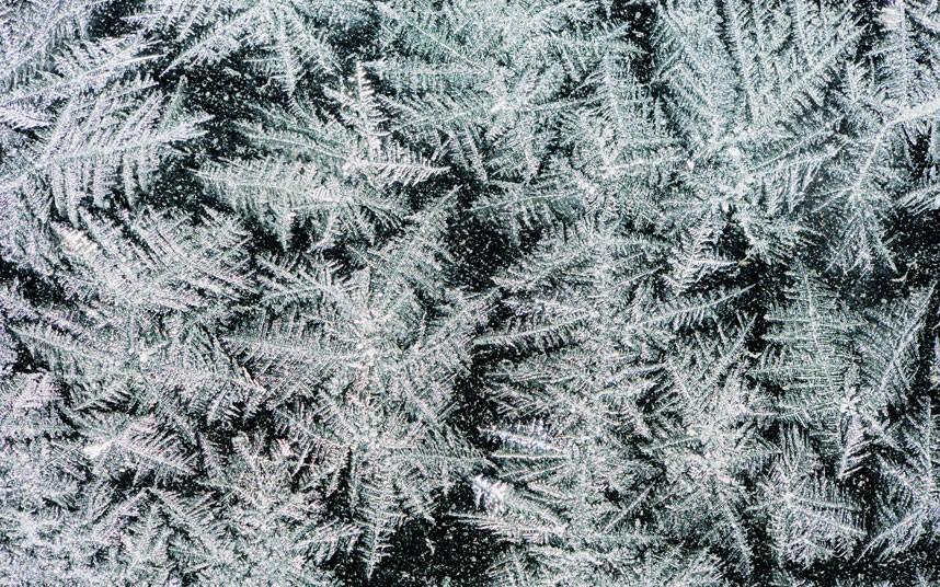Красивые зимние морозные узоры