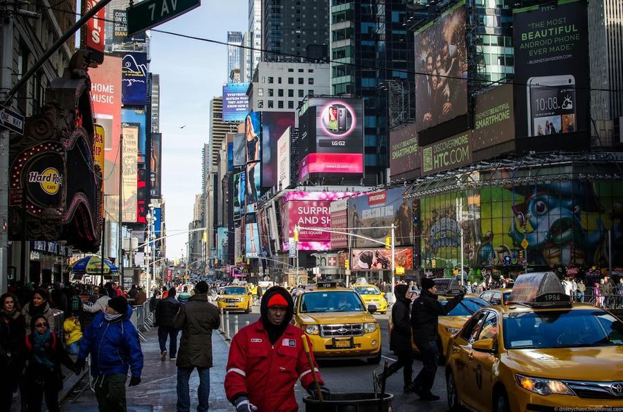 Желтое такси Нью Йорка