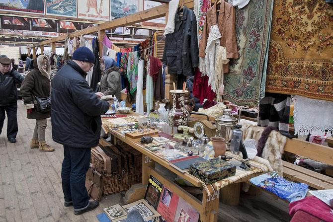 Прогулка по блошиному рынку в Москве