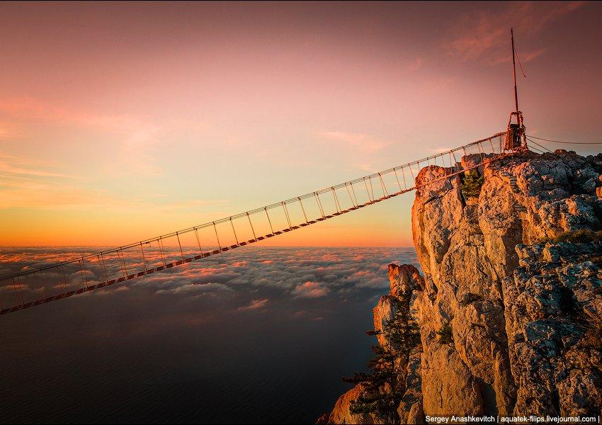 Подвесные мосты на Ай-Петри