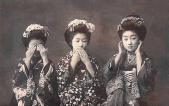 Фотографии гейш и их учениц XIX-XX века