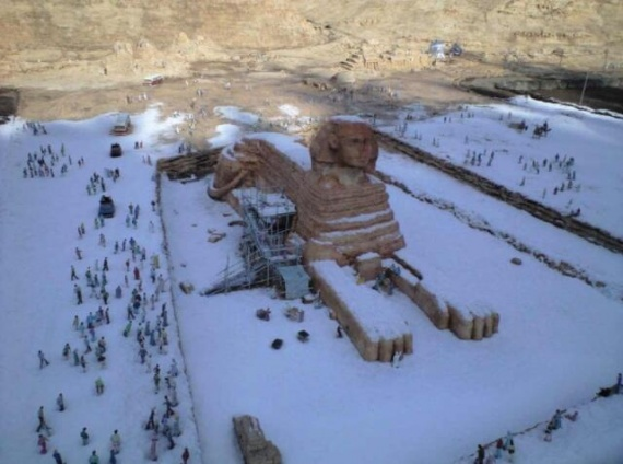 Снег в Египте
