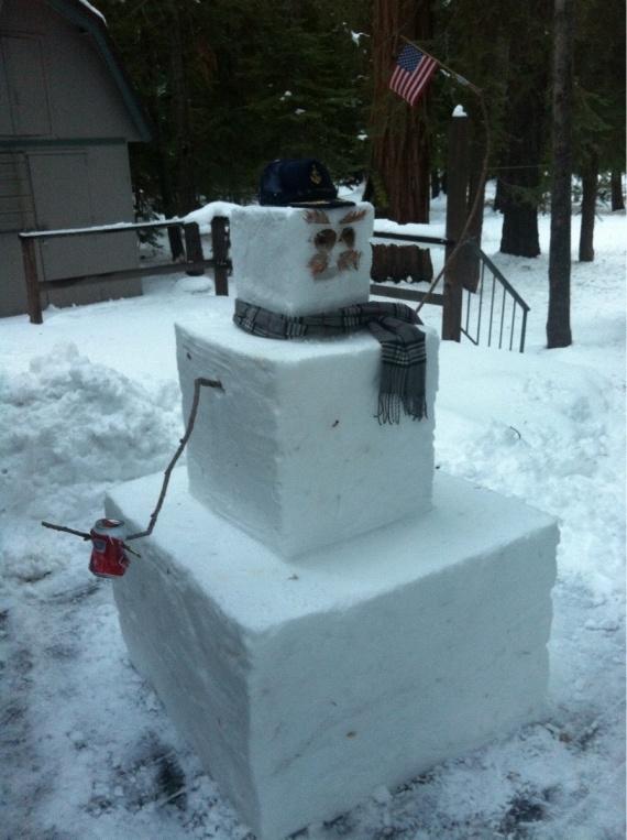 Первый снеговик австралийца, переехавшего в США