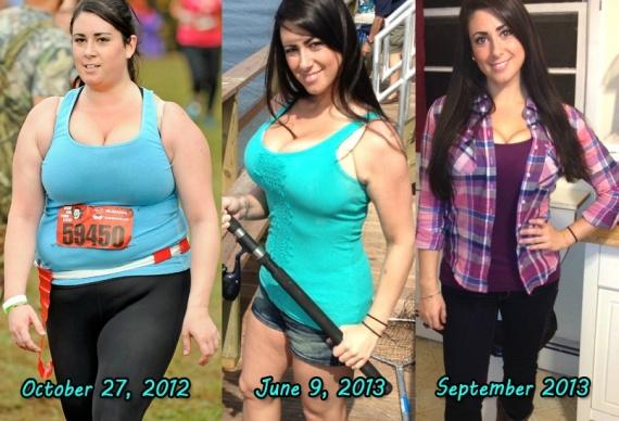 Девушка похудела на 70 фунтов и стала красавицей
