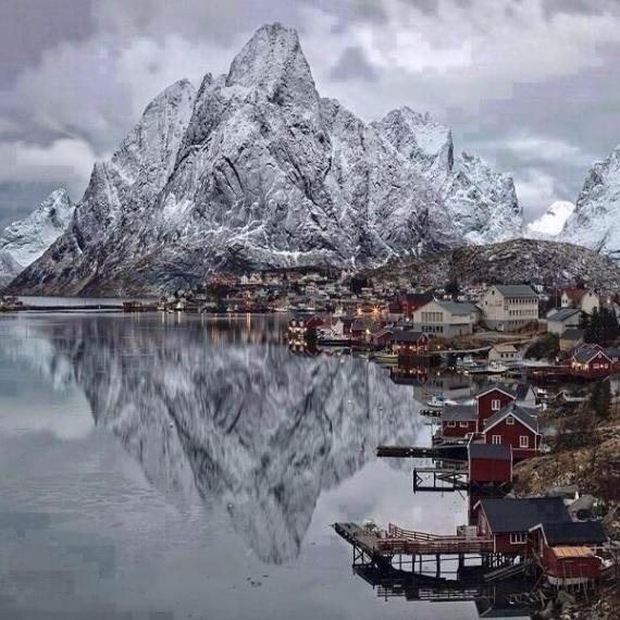 Рыбацкий причал в Северной Норвегии