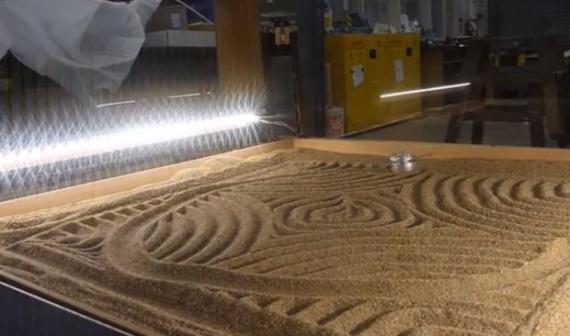 Механизм для создания узоров на песке