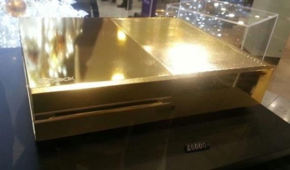 Microsoft Xbox One из золота