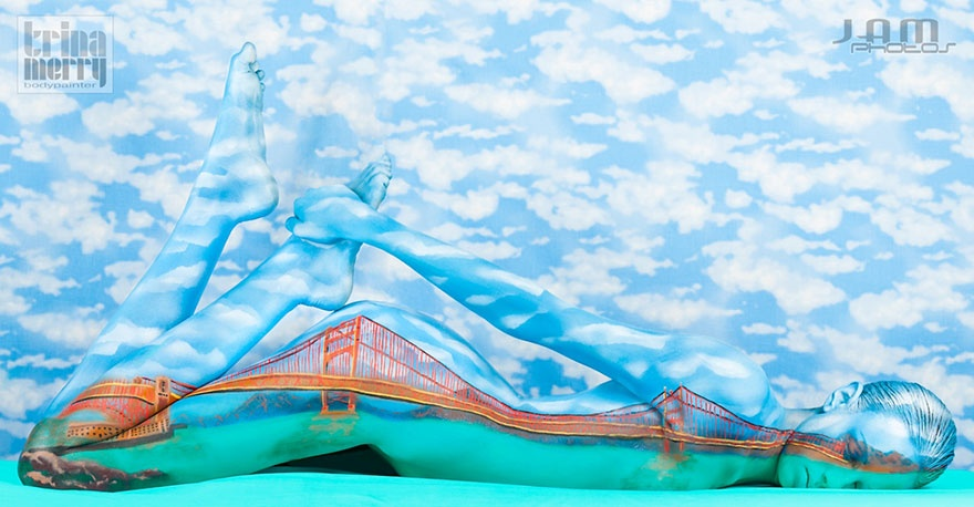 Потрясающие иллюзии, созданные мастером боди-арта