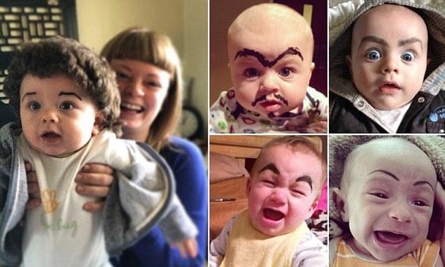 Новый тренд: Нарисуй ребенку брови