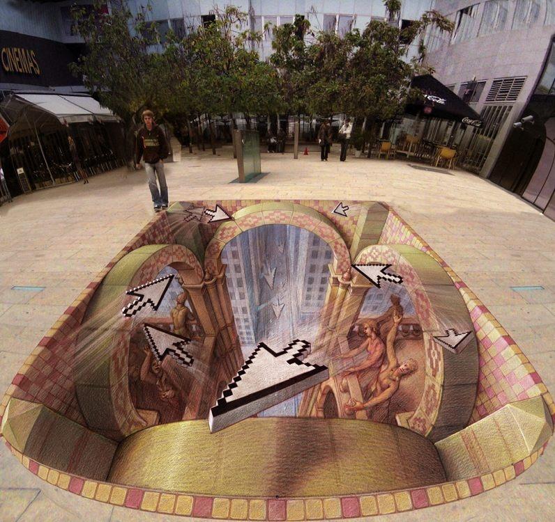 Интересные оптические иллюзии, которые можно увидеть в общественных местах (26 фото)