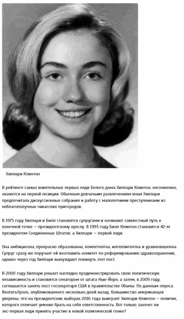 Самые известные и влиятельные первые леди в мире