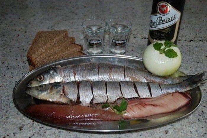 Классические Русские закуски под водку